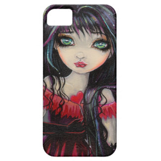 Cute Gothic Vampire Fairy with Hearts iPhone SE/5/5s Case
