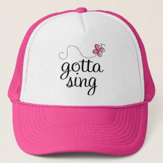 CUTE GOTTA SING PINK TRUCKER HAT