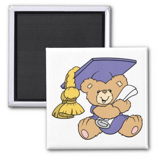 Cute Graduate Graduation Bear Magnet