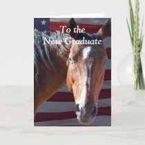 Cute Graduate Graduation Horse - Ranch Farm Card