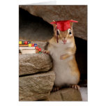 Cute Graduation Chipmunk Greeting Card