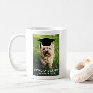Cute Graduation Gift Funny Dog Lover Custom Photo Coffee Mug