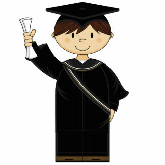 Cute Graduation Kid Sculpture