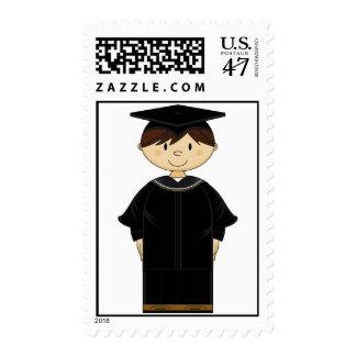 Cute Graduation Kid Stamp
