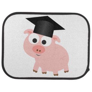 Cute Graduation Pig Car Floor Mat