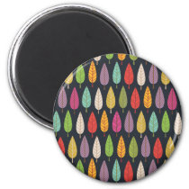 Cute graphic illustrated trees magnet