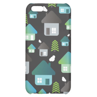 Cute graphic iphone case tree and homes pattern iPhone 5C covers