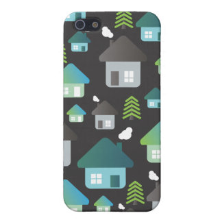Cute graphic iphone case tree and homes pattern case for iPhone 5