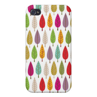 Cute graphic iphone case with tree pattern iPhone 4 case