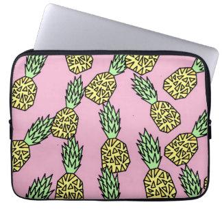 Cute Graphic Pineapple Pattern Laptop Sleeve