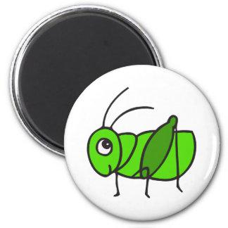Cute Grasshopper 2 Inch Round Magnet