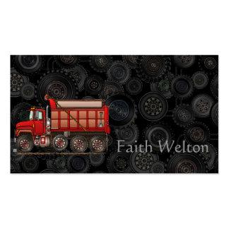 Cute Gravel Dump Truck Business Card Templates