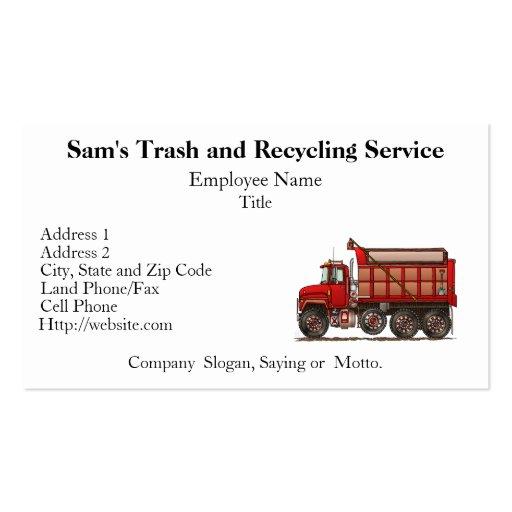 Cute Gravel Dump Truck Business Cards
