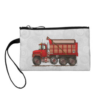 Cute Gravel Dump Truck Change Purse