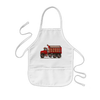 Cute Gravel Dump Truck Kids' Apron