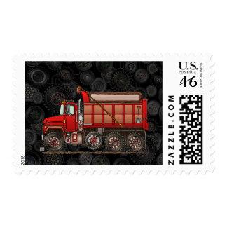 Cute Gravel Dump Truck Postage Stamp