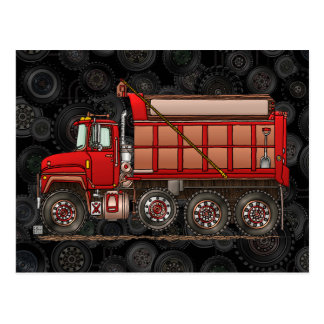 Cute Gravel Dump Truck Postcard