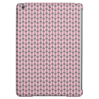 Cute Gray and Light Pink Retro Stripes iPad Air Case