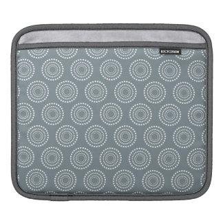 Cute Gray and White Circles Pattern iPad Sleeve