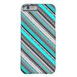 Cute gray aqua aztec patterns barely there iPhone 6 case
