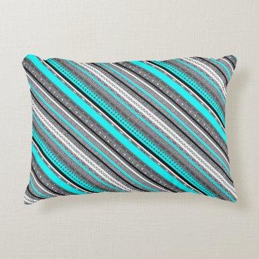 McTiffany Tiffany Aqua Cute gray aqua aztec patterns decorative pillow