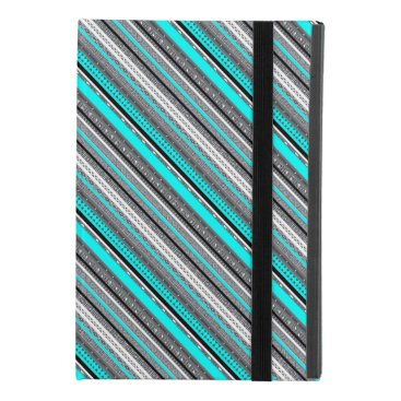 Aztec Themed Cute gray aqua aztec patterns iPad mini 4 case