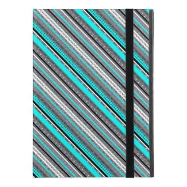 "Aztec Themed Cute gray aqua aztec patterns iPad pro 9.7"" case"
