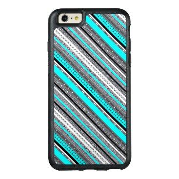Aztec Themed Cute gray aqua aztec patterns OtterBox iPhone 6/6s plus case