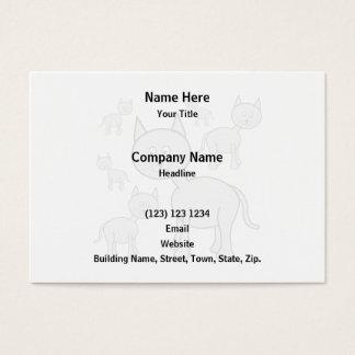 Cute Gray Cats. Cat Cartoon. Business Card