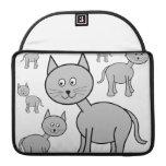 Cute Gray Cats. Cat Cartoon. MacBook Pro Sleeves