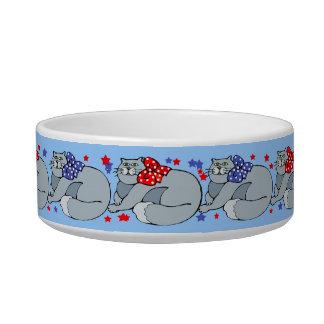 Cute Gray Cats design Bowl