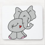 Cute Gray Elephant Mouse Pad