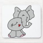 Cute Gray Elephant Mouse Pad