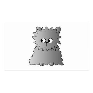 Cute Gray Fluffy Cat. Business Card