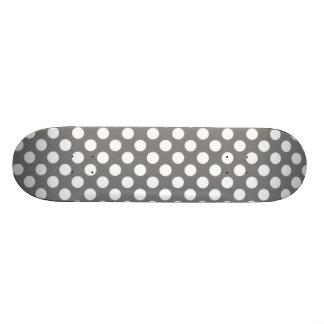 Cute Gray Polka Dots Skateboard