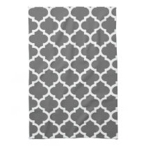 cute gray quatrefoil towels