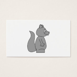 Cute Gray Squirrel Business Card