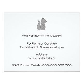 Cute Gray Squirrel Card