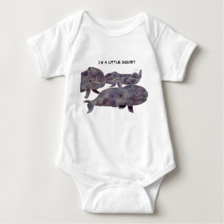 Cute Gray Whales Infant Apparel Baby Bodysuit