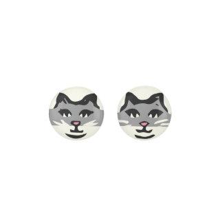 CUTE GRAY & WHITE CAT EARRINGS
