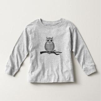 Cute Gray Wise Owl | T-shirt
