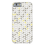 Cute Gray Yellow Leaf Pattern iPhone 6 Case