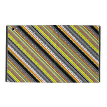 Aztec Themed Cute gray yellow orange aztec patterns iPad cover