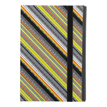 Aztec Themed Cute gray yellow orange aztec patterns iPad mini 4 case