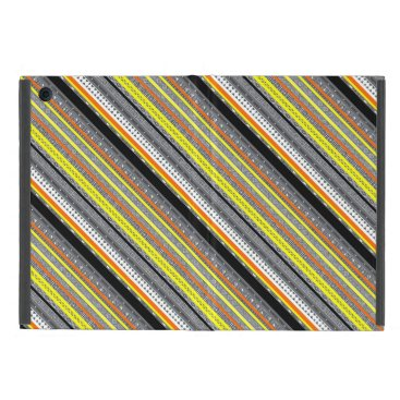 Aztec Themed Cute gray yellow orange aztec patterns iPad mini case