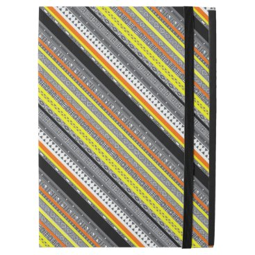 "Aztec Themed Cute gray yellow orange aztec patterns iPad pro 12.9"" case"