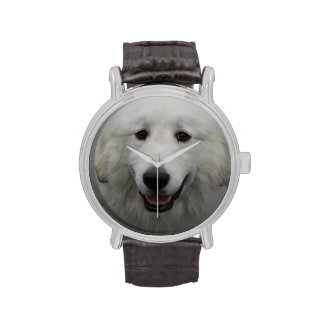 Cute Great White Pyrenees Wrist Watches