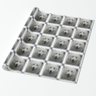 Cute Great White Pyrenees Wrapping Paper