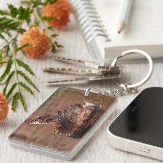 Cute Grebe Keychain