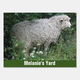 Cute Greedy Sheep Eating Custom Yard Sign